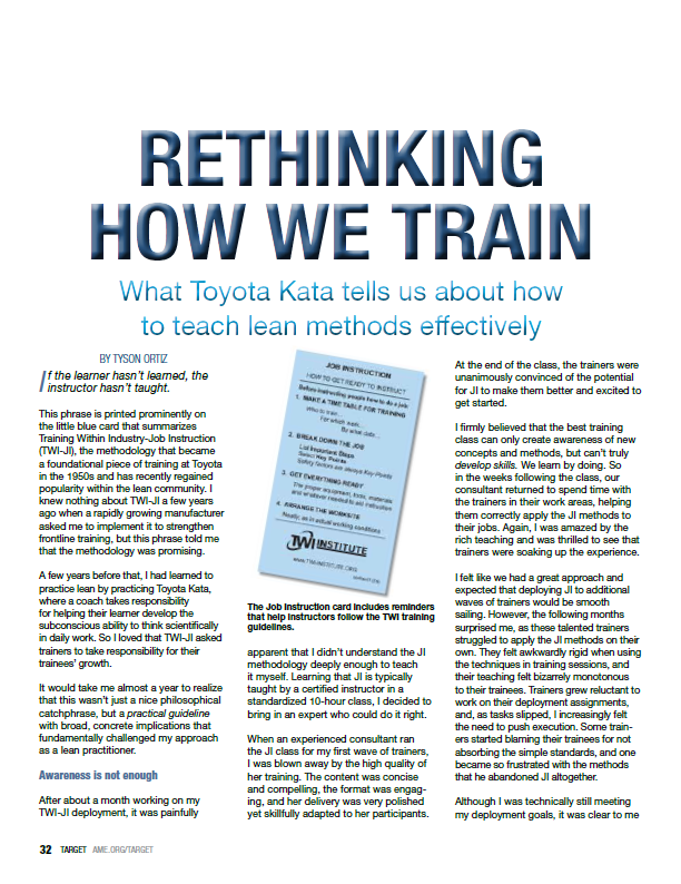 Rethinking how we train - Target magazine image